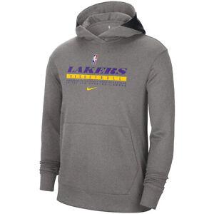 New 2021 NBA Los Angeles Lakers Nike Spotlight On Court Practice Pullover Hoodie
