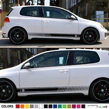 Stickers Decal for Volkswagen VW Golf Stripes Graphics Door Trim Kit mk1-mk7 gti