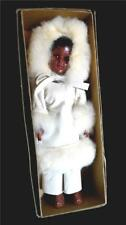 Vintage Plastic Doll~Eskimo Outfit with Bunny Fur~New in original box~1960's