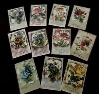 Lot of 11~ Pretty~A/s Catherine Klein~Roses & Flowers Art c.1910 Postcards-c774