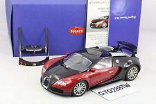 AUTOart 1:18 Bugatti EB 16.4 Veyron Production Car(Blackl/Red Metallic) #70906
