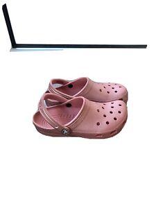 rose gold crocs
