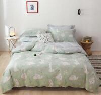 3D Cartoon Bunny ZHUA2389 Bed Pillowcases Quilt Duvet Cover Set Queen King Zoe
