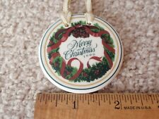 Longaberger Merry Christmas 1996 Ceramic Basket Tie-On