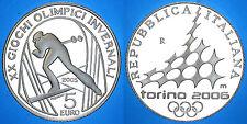5 EURO 2005 OLIMPIADI TORINO SCI DI FONDO ITALIA ITALY ARGENTO SILVER #6859A