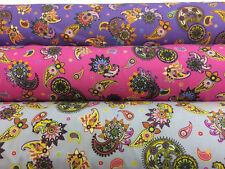 Carnival Paisley 6 metre Fabric bundle Printed 100% Cotton Poplin Fabric