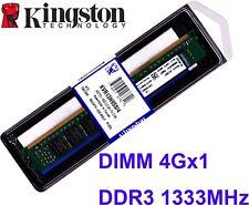 4GB (1 X 4GB) DDR3-1333 (PC3-10600) CL9 240-PIN DIMM Kingston Memory KVR13N9S8/4