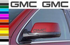 GMC truck car wing mirror / Door Handle decals vinyl stickers (5 pieces)100x21mm