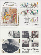 1993-96 GB lot of 13 x Westminster Silk FDC's inc. Golf & D-Day