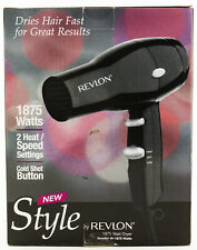 Revlon Hair Dryer RDVR5034 Black 2 Heat Speed 1875W MidsizeTravel Styler New
