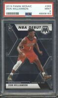 2019-20 Panini Mosaic NBA Debut Zion Williamson Rookie RC #269, Graded PSA 9