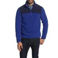 Brooks Brothers Mens Blue Long Sleeve Quarter Zip Pullover Fleece Sweater XL