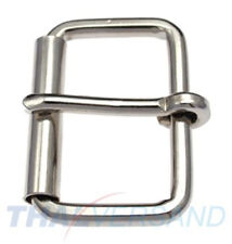 10 Stück Rollschnalle Flach 40mm Stahl vernickelt Rollschnallen Sattler Schuster