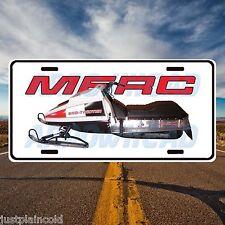 "Mercury Sno-Twister ""Merc"" Vintage snowmobile style license plate"