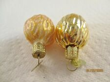 Lot of Two Old World Christmas Walnut Blown Glass Ornaments