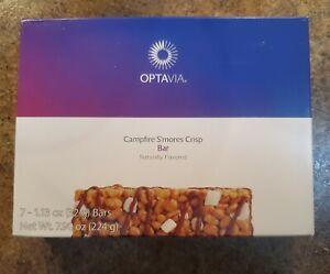 Optavia Essential Campfire S'mores Crisp Bars Box of 7 Fuelings Exp 12/2021