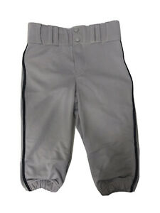 Champro Boys Youth Baseball Gray Pants Knicker Loose Fit Size S