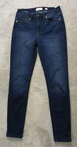 Miss Me Womens Mid Rise Skinny Jeans Dark Wash Blue Denim Size 27