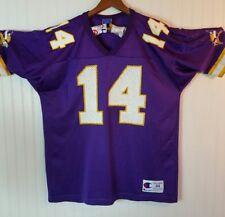 NFL football Jersey Minnesota Vikings Brad Johnson Vintage Jersey Medium 44 (F)