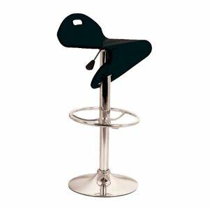 Eliza Tinsley Translucent Barstool Adjustable, Chrome Plastic Black, Set of 2