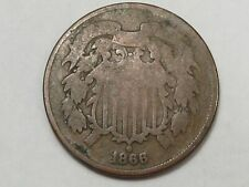 1866 US Two Cent Piece Coin. 2¢. #176