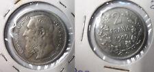 1909 Belgium Silver 2 Francs Fl