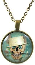 Weird Necklace for Boys Girls Skull Pendant Gift Men Women Popular Trendy Glass