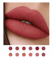 12-Colors Long Lasting Lip Gloss Beauty Glazed Matte Liquid Make up Lipstick Lip