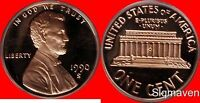 1990 S Lincoln Cent Deep Cameo Gem Proof