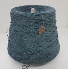 Wolle NaturGarn Stricken Weben & Handstricken|Chenille baumwolle blau 1kg |cf63