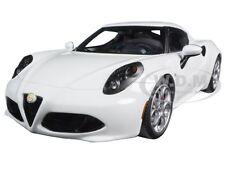 ALFA ROMEO 4C GLOSSY WHITE 1/18 MODEL CAR BY AUTOART 70185