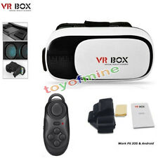 VR Headset Virtual Reality VR BOX Goggles 3D Glasses Google Cardboard + Remote