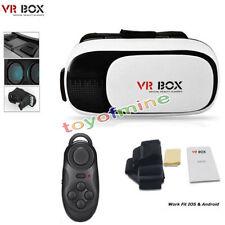 VR Headset Virtual Reality VR BOX Goggles 3D Glasses Google Cardboard + Remote