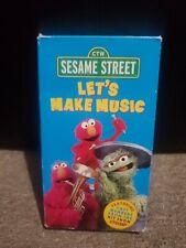 Sesame Street - Lets Make Music VHS