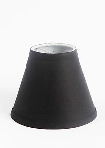 "Urbanest Linen Mini Chandelier Lamp Shade, Clip On, Hardback, 3""x 6""x 5"""