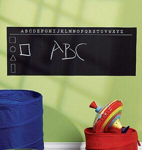 ABC Alphabet Chalkboard Wall Mural Sticker Play Remove Write Learn Chalk Board