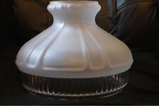 "10"" Clear Panel Satin Crystal Etched Glass Oil Kerosene Lamp Shade fits Aladdin"