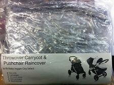 ORIGINAL BABY JOGGER CITY SELECT STROLLER & CARRYCOT THROWOVER  RAIN COVER BNIP