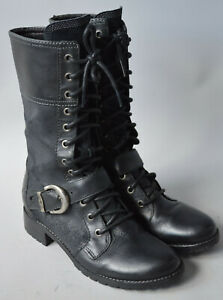 Ladies Timberland EarthKeepers Bethel Lace Black Leather Lace Up Boots Size UK 4
