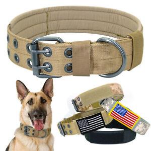 Military Tactical Dog Collar Nylon Adjustable Medium Large Dogs German Shepherd