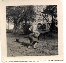 Laughing Adult Women Having Wrestling Match Smack Down In The Yard 1950s Photo