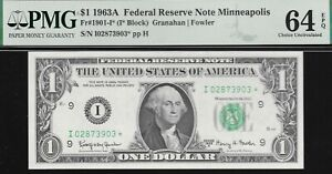 FR# 1901-I*  $1 1963-A  MINNEAPOLIS FED  (( STAR ))  PMG 64 EPQ   L@@K  NR
