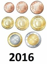 MALTA - KMS 2016 -  Set 1CT / 2EUROS - 3.88€  (8 MÜNZEN SET)  UNCIRCULATED