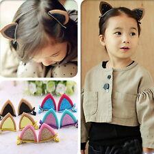 Paire Pince Cheveux Clip Oreille Chat Paillette Pr Enfant Fille Mignon Princesse