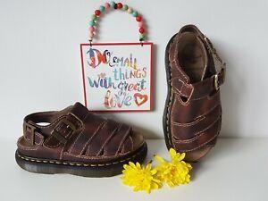 Dr Doc Martens brown platform chunky sole sandals fisherman UK 5 EU 38 US 7