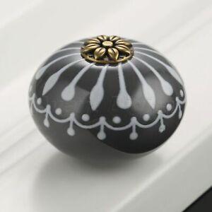 Various Style Drawer Knobs Round Ceramic Cabinet Wardrobe Door Pull Handles