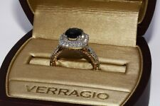 $9,000 2.15CT AUTHENTIC VERRAGIO NO HEAT SAPPHIRE & DIAMOND ENGAGEMENT RING 18K