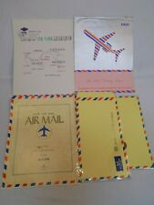 Airmail Mailing Letter Envelopes Red Blue Vintage Writing Pad Thin Paper Lot Set