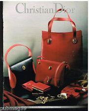 Publicité Advertising 1992 Haute Couture maroquinerie sac à main Christian Dior