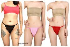 Para mujeres Damas Slip Calzoncillos Suave Tanga Braga Sissy G-String Panty PK1/3